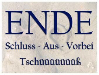 ENDE-AUS-SCHLUSS